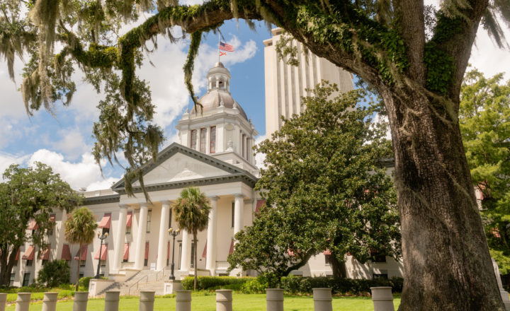 The State Capital Building in Tallahassee Florida